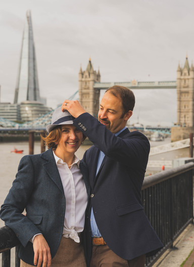 Young couple near Tower Bridge