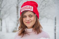 Portrait. Romanian girl in winter.