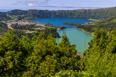 Beautiful lakes Portugal.