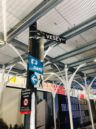 Vesey Street Sign