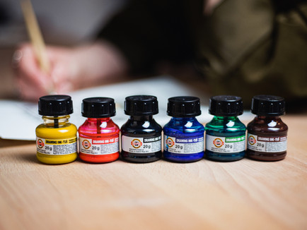 Black and Colorful Inks