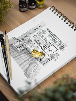 Ztvárněte svůj domov pomocí pera a tuše