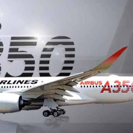 エアバスA-350搭乗!