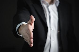 Man offering handshake