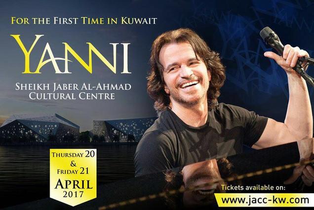 YANNI pela primeira vez no Kuwait