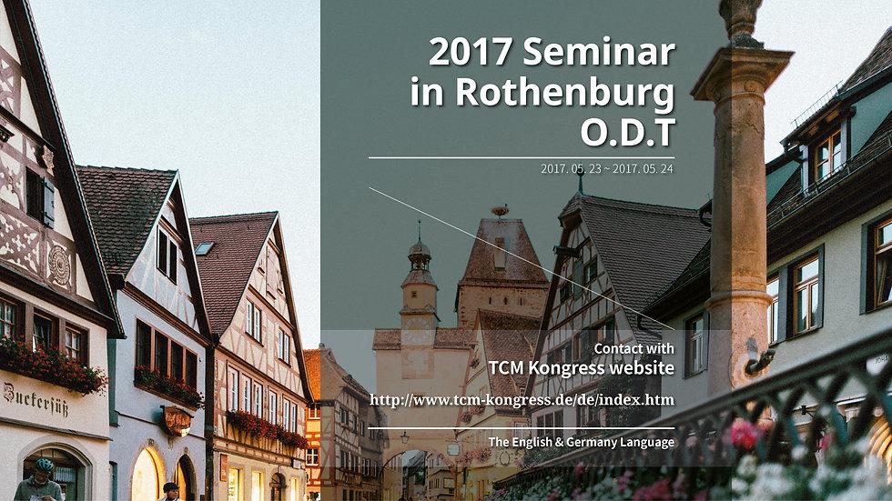 2017 Seminar Rothenburg O.D.T