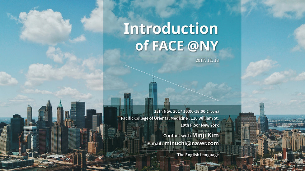 Introduction of FACE @NY