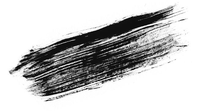 Stroke (sample) of black mascara, isolat