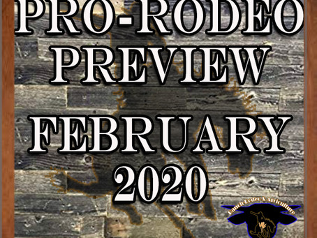 Let's talk the pro rodeo schedule for February.