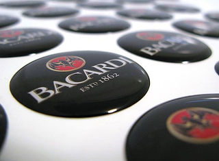 Bacardi Domed Decal