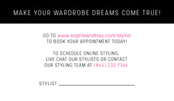 Personal Stylist Card Back
