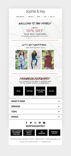 New User Registration Template - Sophie and Trey