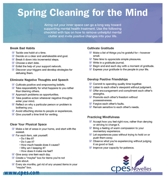 Spring Cleaning for Your Mental Health