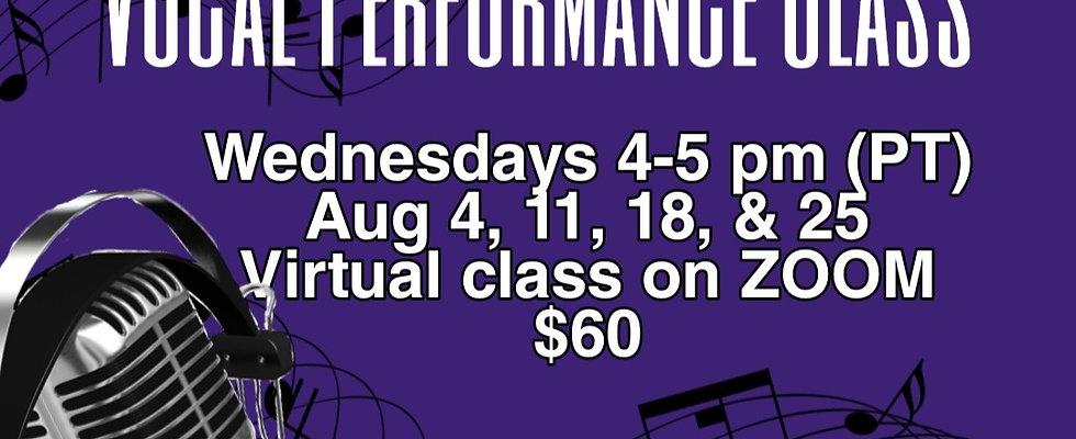 Vocal Performance Class