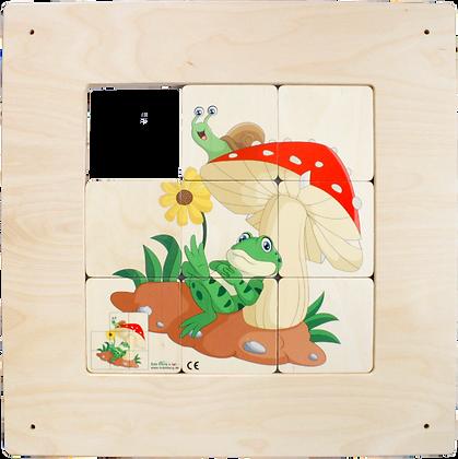 Schiebebild - Frosch und Pilz