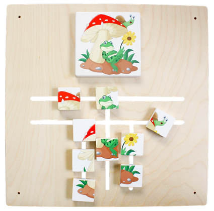 Labyrinth Puzzle - Frosch/Pilz