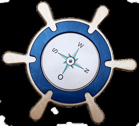 Steuerrad mit Kompass drehbar