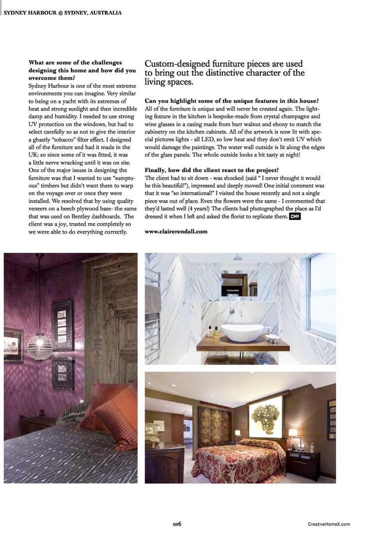 Claire rendall interior design Creative Homes 4