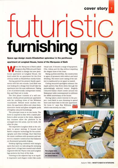 Whats New article Claire rendall interior design