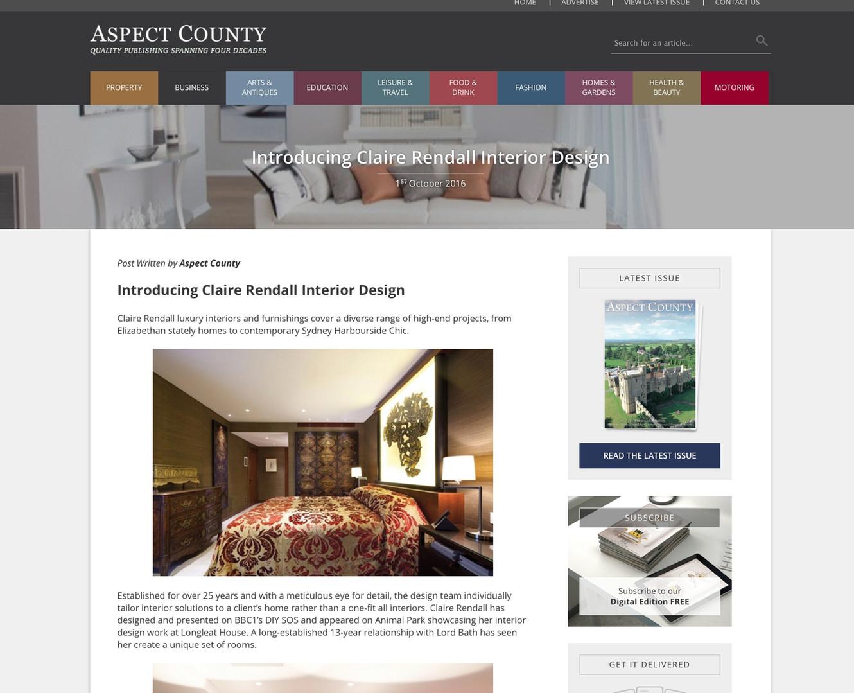 Claire rendall interior design Aspect Country