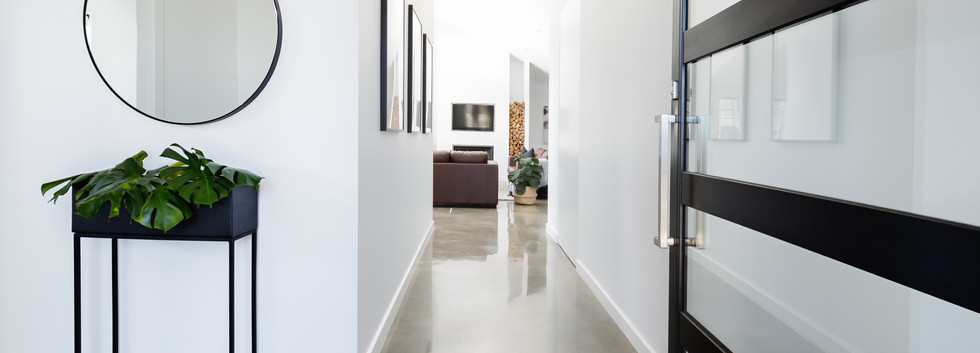contemporary hallway design