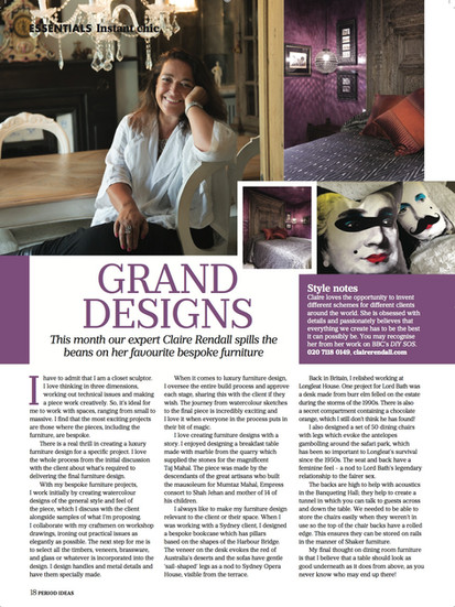 Claire rendall interior design August