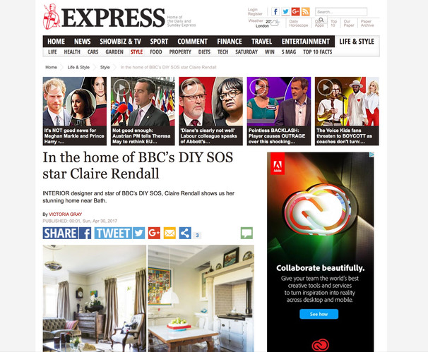 Claire rendall interior design Daily Express