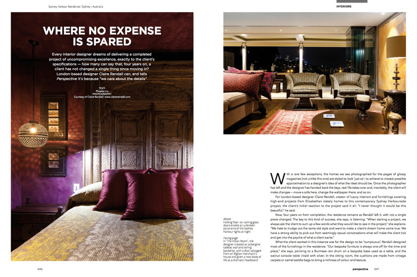 Perspective Global - Claire rendall interior design