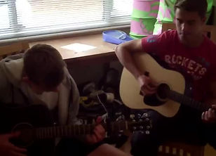 Sam + Ethan Playing an acoustic version of Avicii-Hey Brother. Guitar Lessons With Simon Dorking Surrey