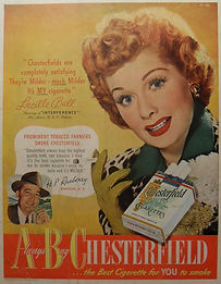 1950s CHESTERFIELD Lucille Ball vintage