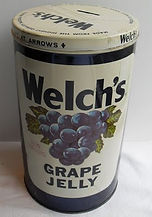 Vintage Welch's Grape Jelly Jar Metal To