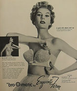 1950s Bra-O-Matic Vintage Bra Advertisem