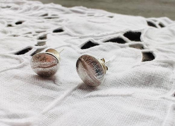 Coffee Bean Silver Earring