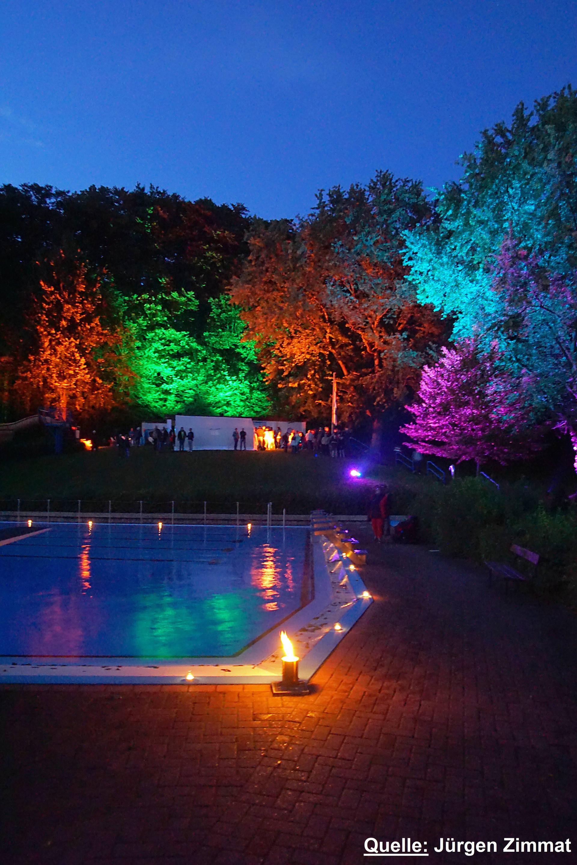 Illumination des Waldbades