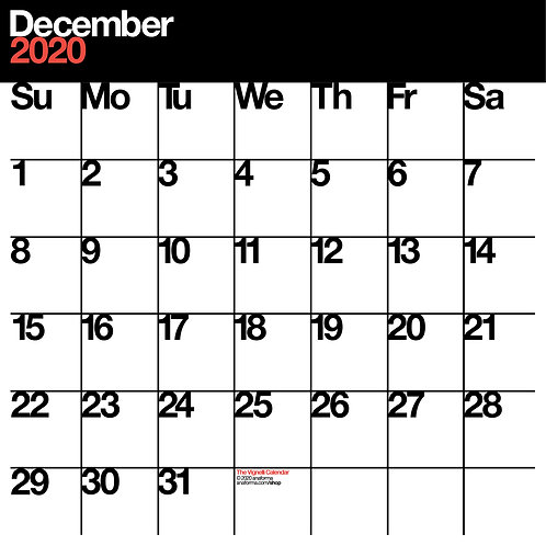 The Vignelli Calendar by Anaforma