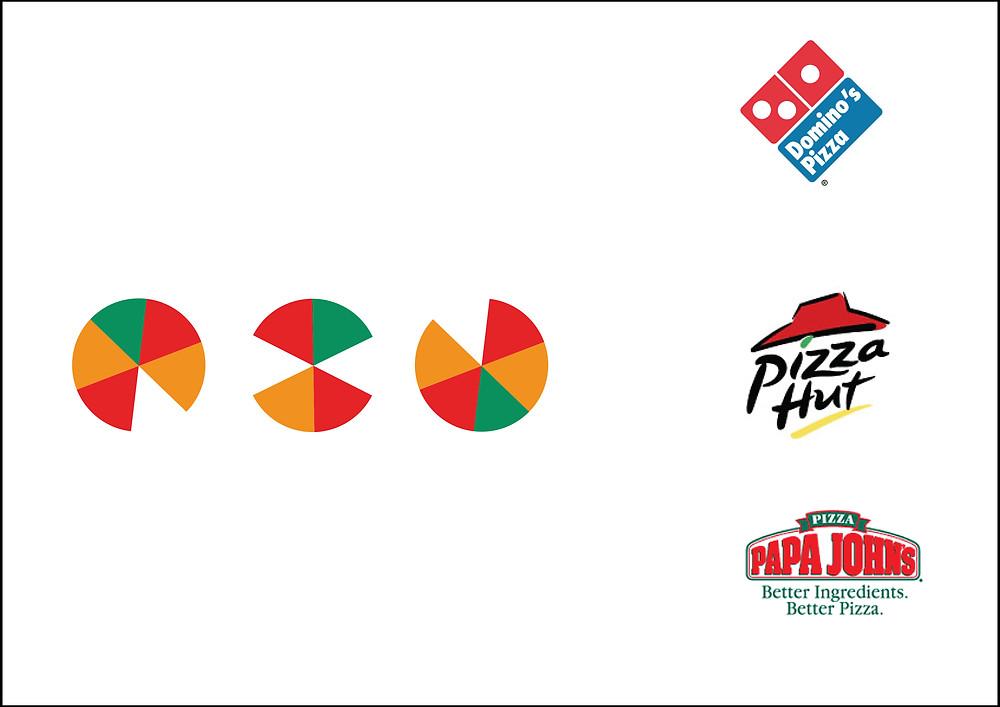 OXO—Logo design for a pizzeria using the Bauhaus shapes.