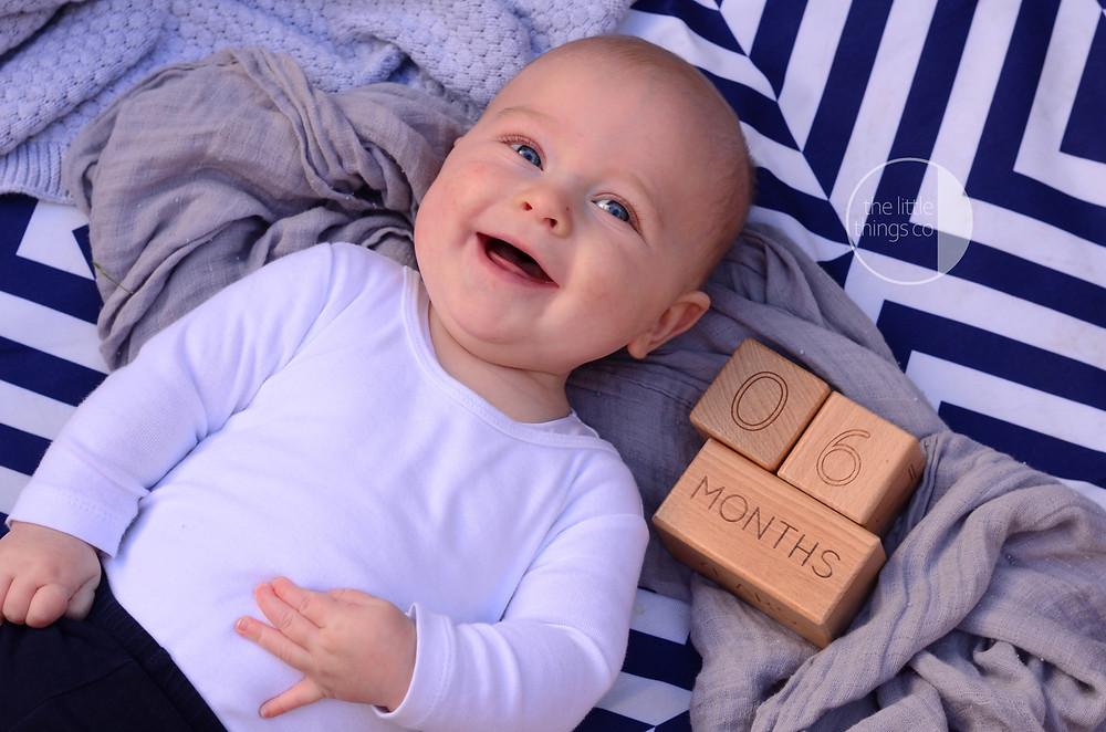 Professional baby milestone photography