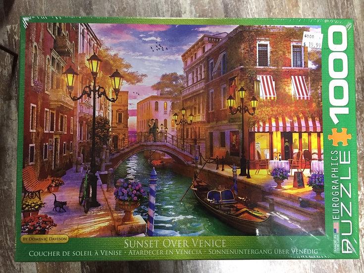 Sunset Over Venice - 1000 Piece Puzzle
