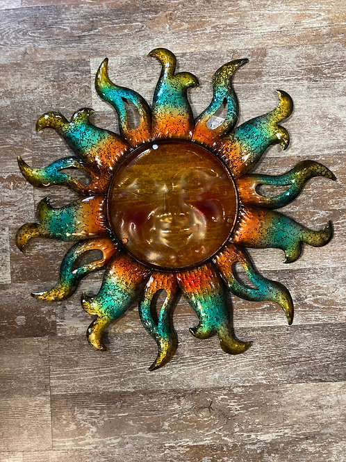 "22"" Glass and Metal Sun"
