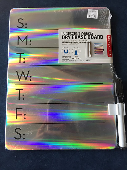 Iridescent Weekly Dry Erase Board