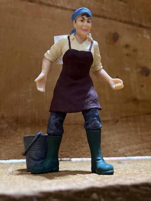 "3"" x 2.5"" Plastic Farmer Toy"