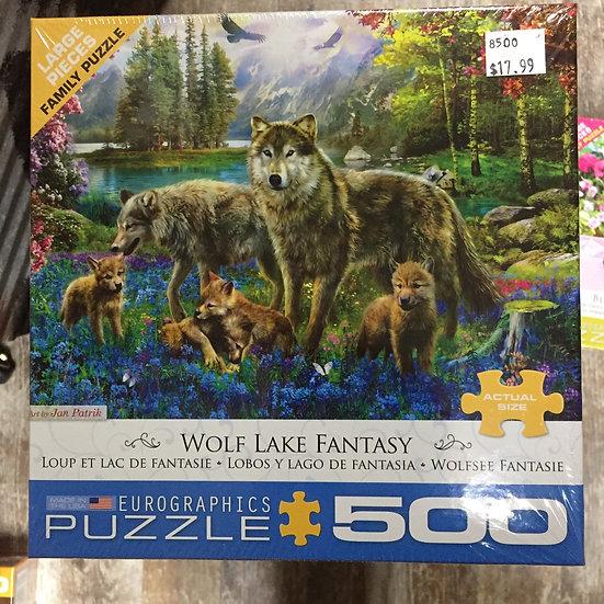 Wolf Lake Fantasy - 500 Piece Puzzle