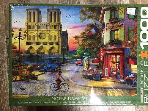 Notre Dame Sunset - 1000 Piece Puzzle