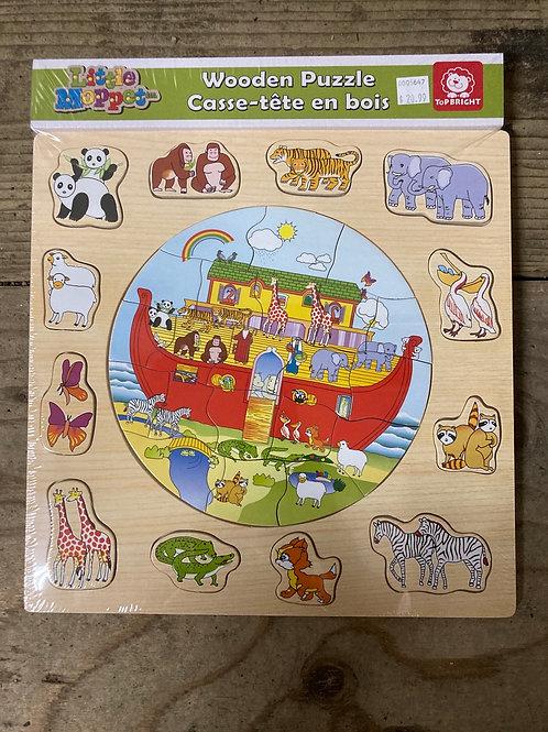Noah's Ark Wood 33 Piece Children's Puzzle by Little Moppet