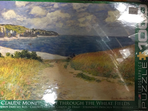 Path Through the Wheat Fields - 1000 Piece Puzzle