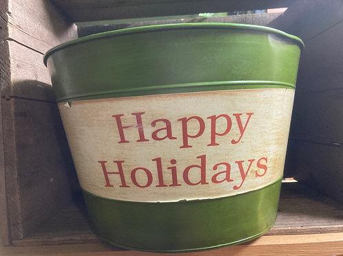 """Happy Holidays"" Christmas Drink Tub"