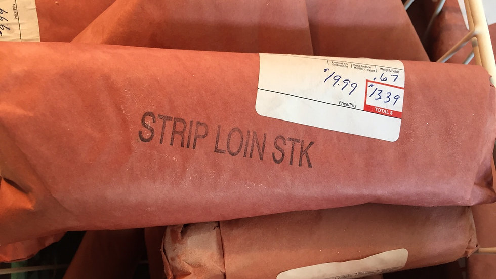 WF Frozen Striploin Steak (Estimated Price)