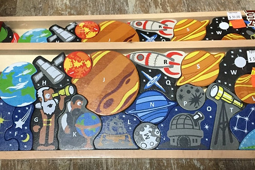 Begin Again Space A-Z Puzzle and Playset