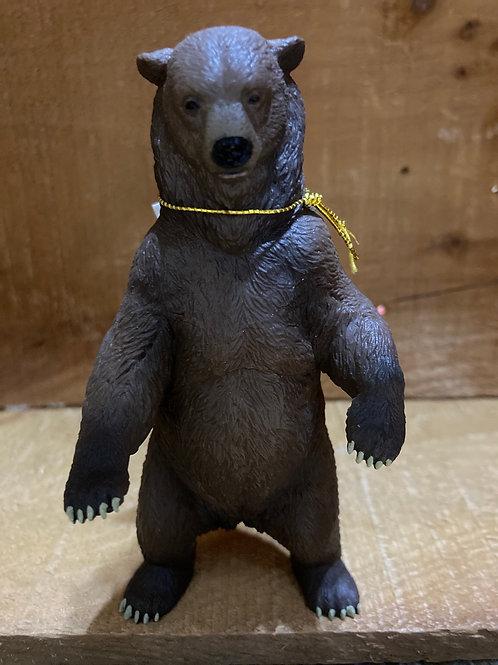 "5.5"" x 2.5"" Plastic Bear Toy"