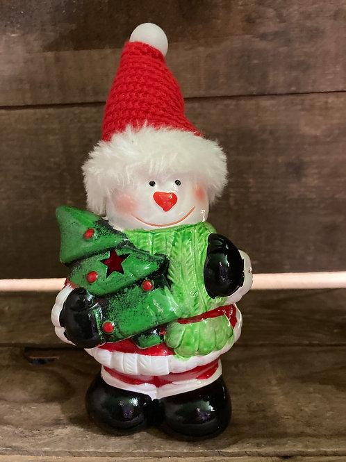 "7"" Light Up Snowman Figurine"